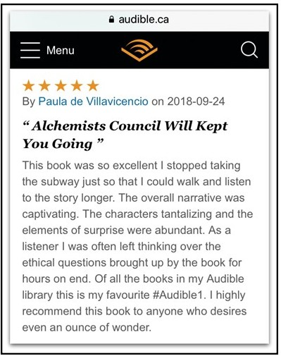 Audible Paula V Review